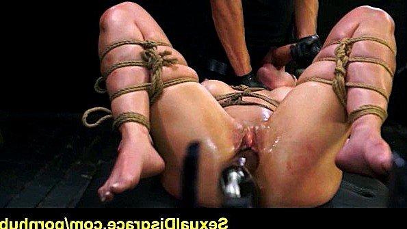 В подвале были девушка связанная по рукам и ногам озабоченный парень и секс машина